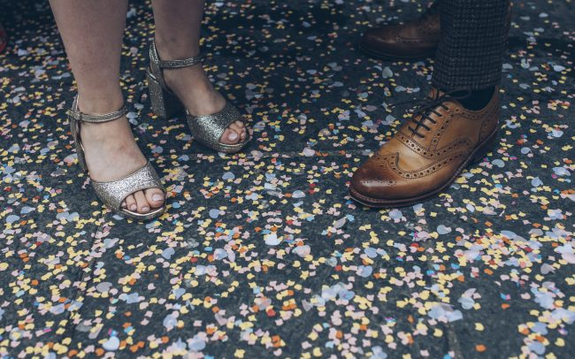 Confetti detail wedding photo