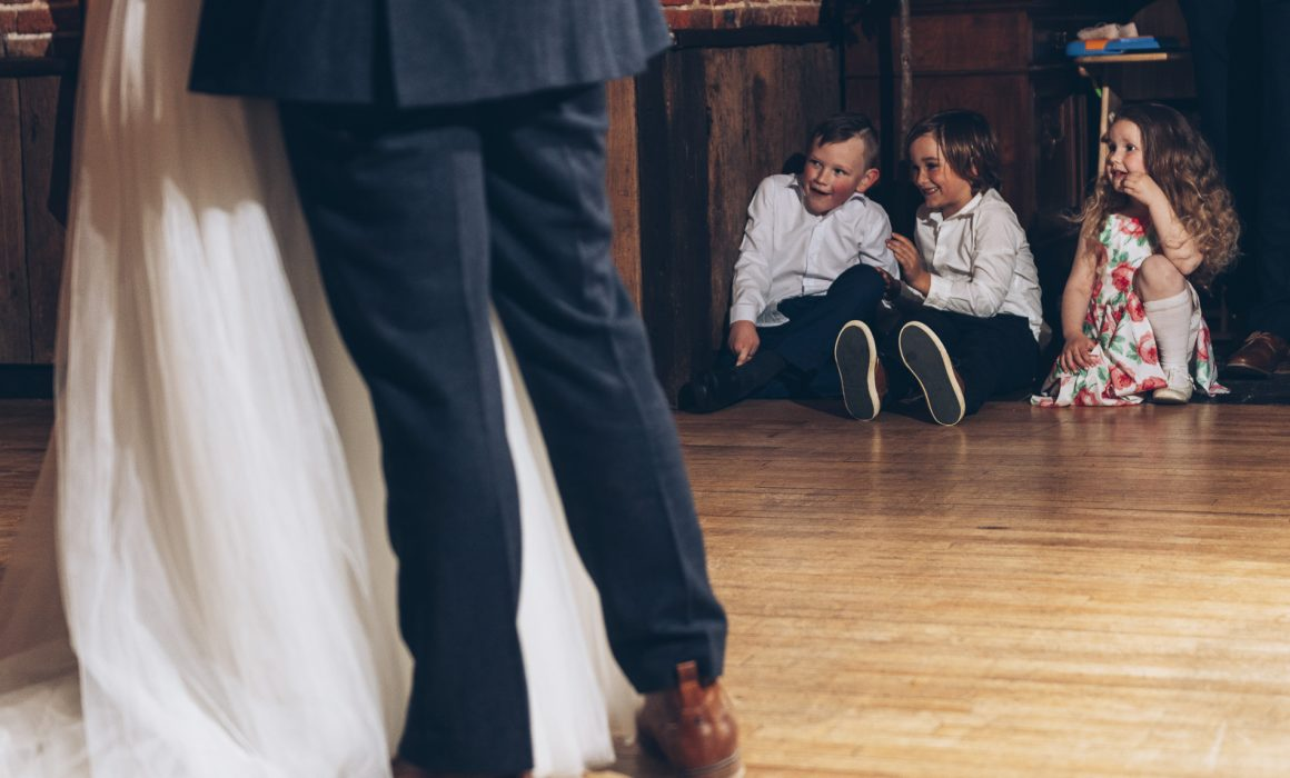 Reportage wedding photography, showing children