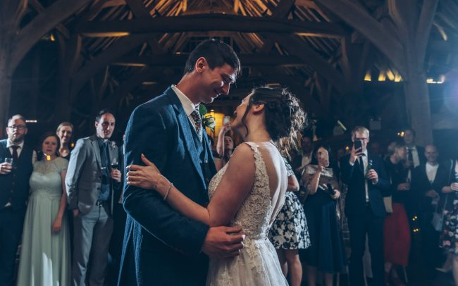 First dance wedding photo at Priory Barn Hertfordshire