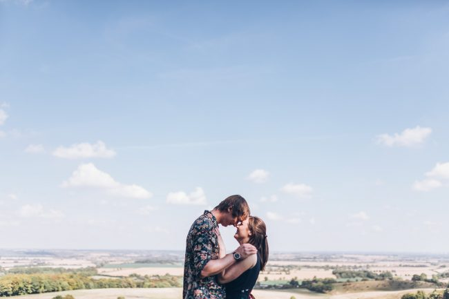 Pegsdon Hill engagement shoot