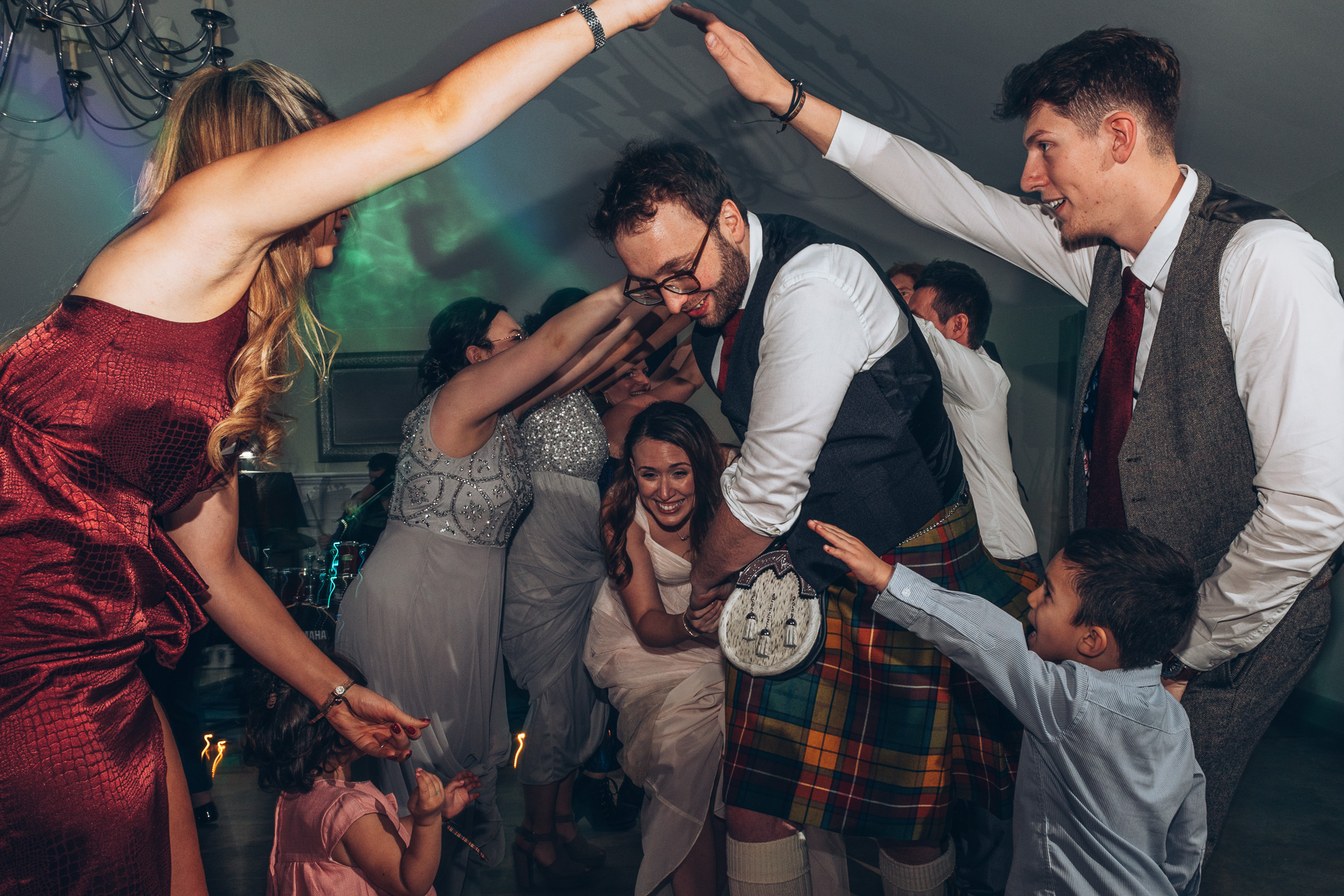 ceilidh dancing at a wedding