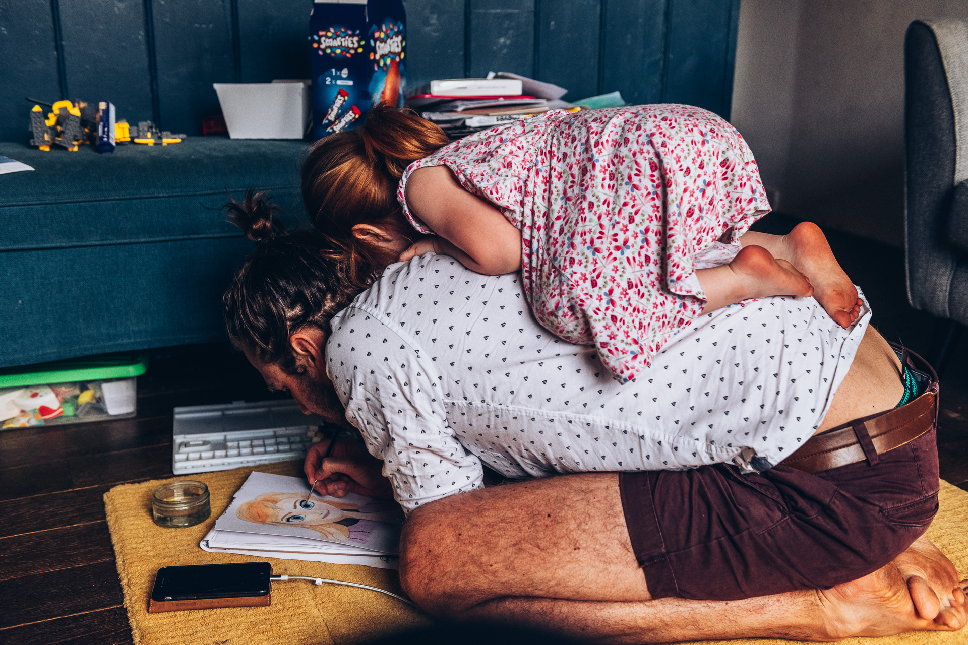 A photography showing family Life during the Covid-19 Lockdown