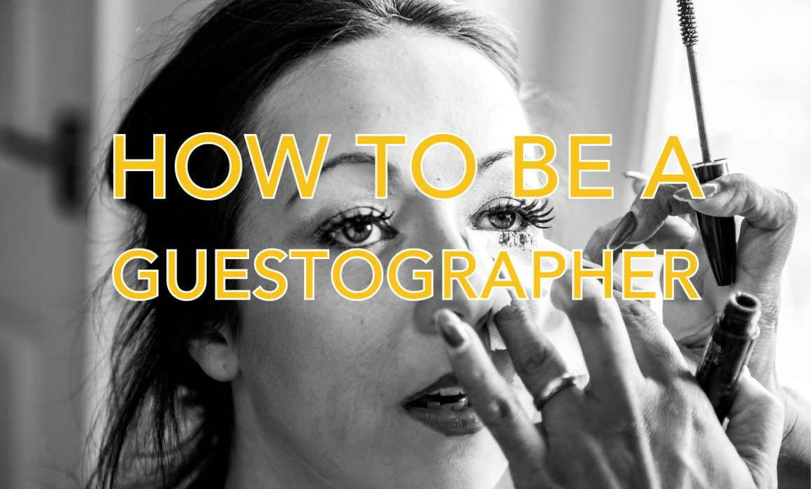 Photos with text saying How to be a guestographer