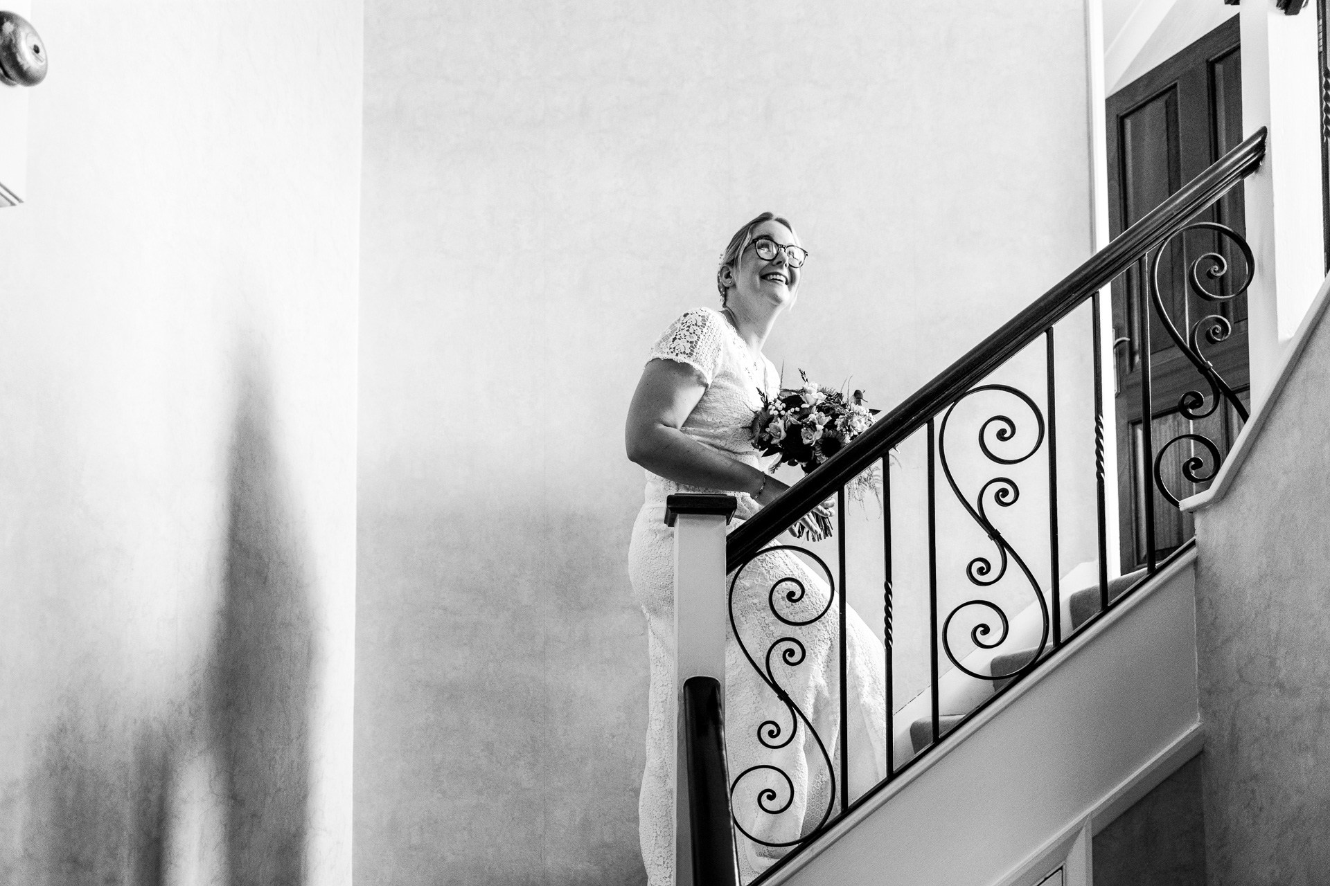 Bride at her home before her wedding
