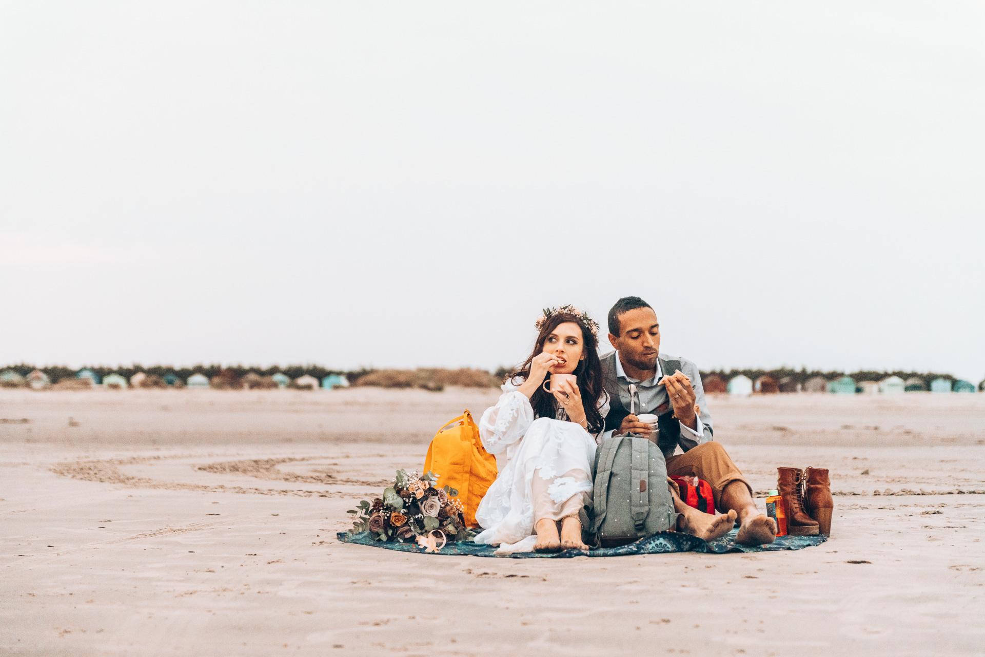Bohemian Beach Wedding 153