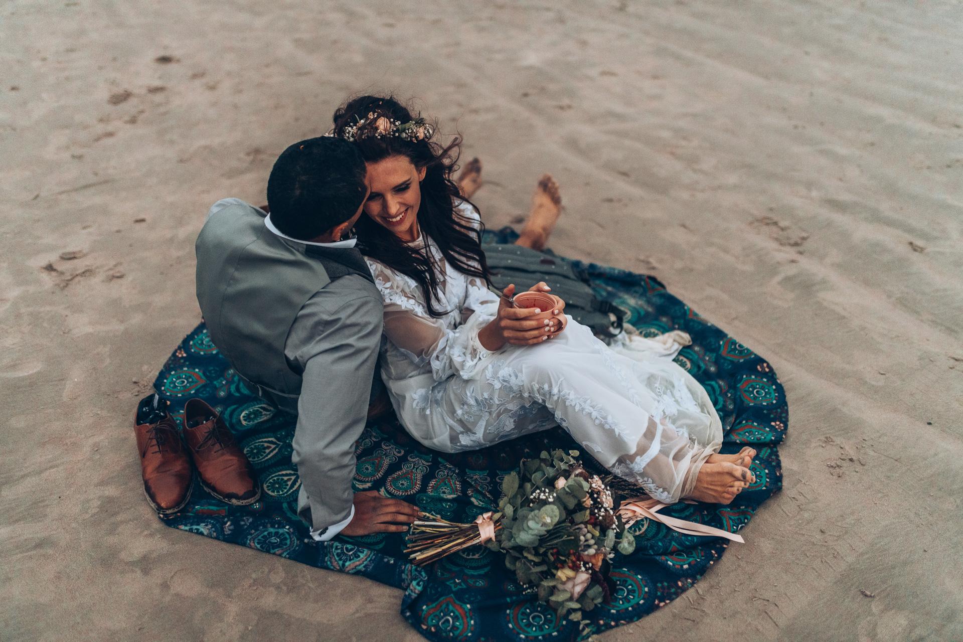 Bohemian Beach Wedding 158