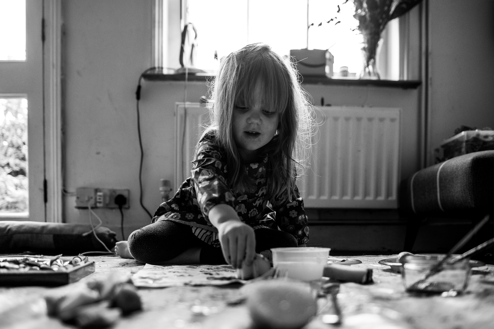 Lockdown 3 little girl paints