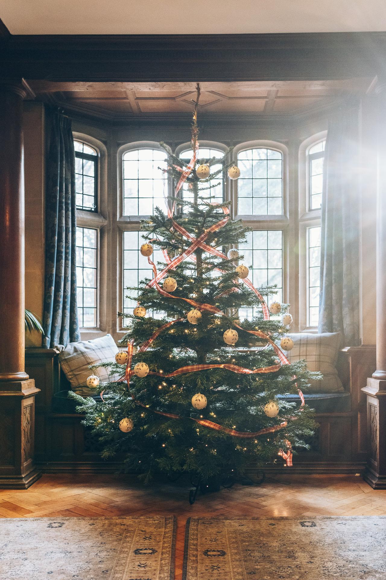 Christmas Tree at a winter Wedding at Lanwades Hall