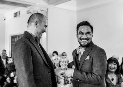 The grooms looking really happy