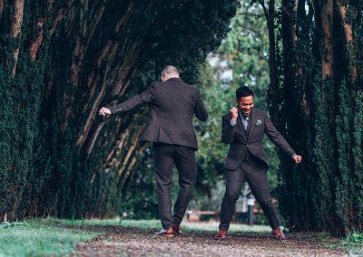 The grooms dancing